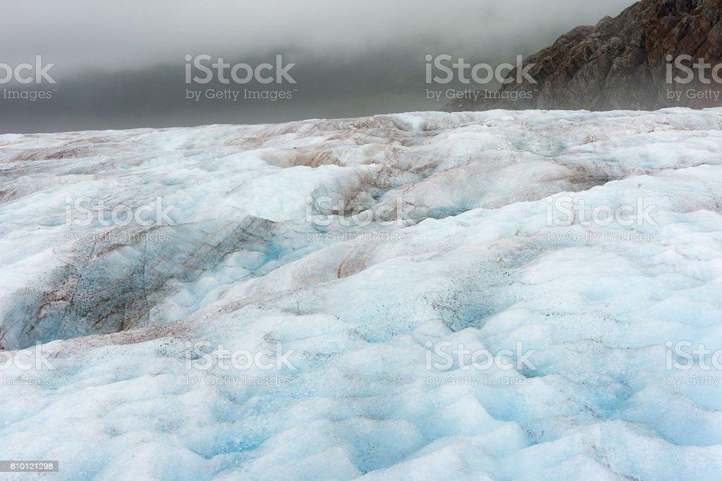 Atmospheric surface of Lemon Glacier stock photo