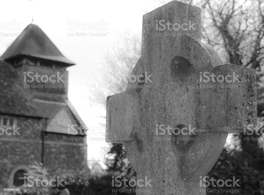 Atmospheric view of a church monument stock photo