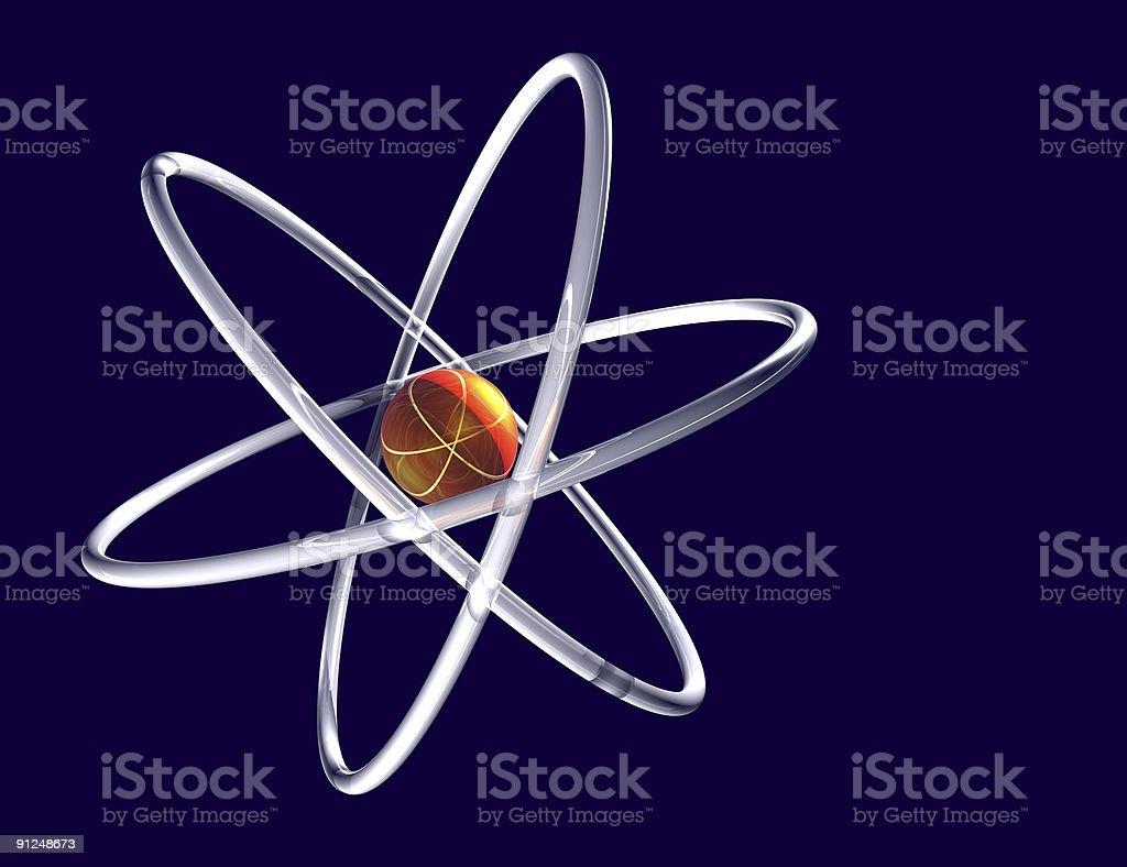 Atom abstract royalty-free stock photo