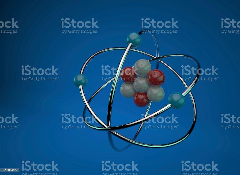 Atom Chemistry 3D stock photo