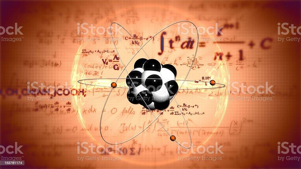 Atom model. Science background stock photo