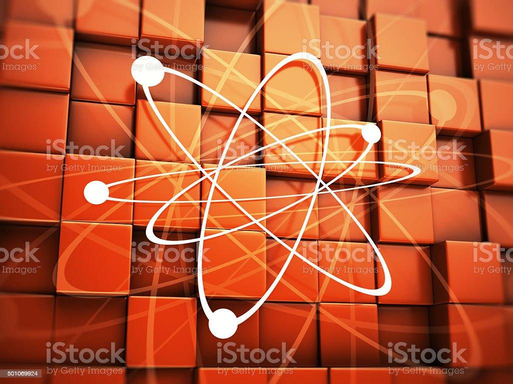Atom or proton stock photo