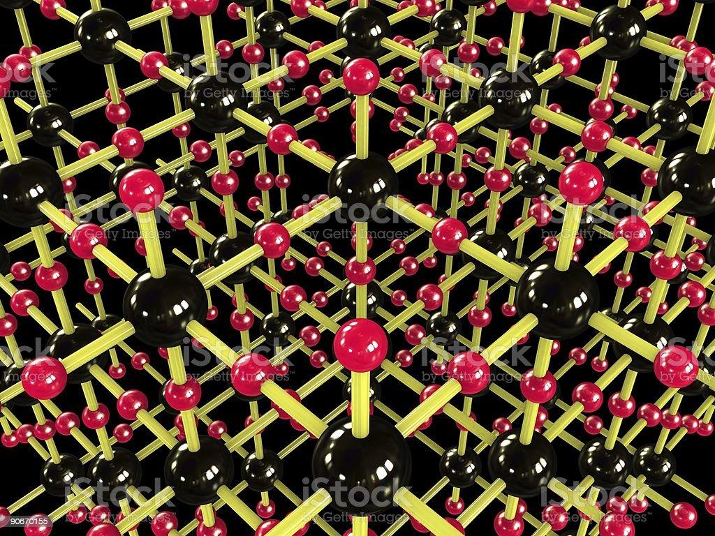 Atom Scafolding royalty-free stock photo