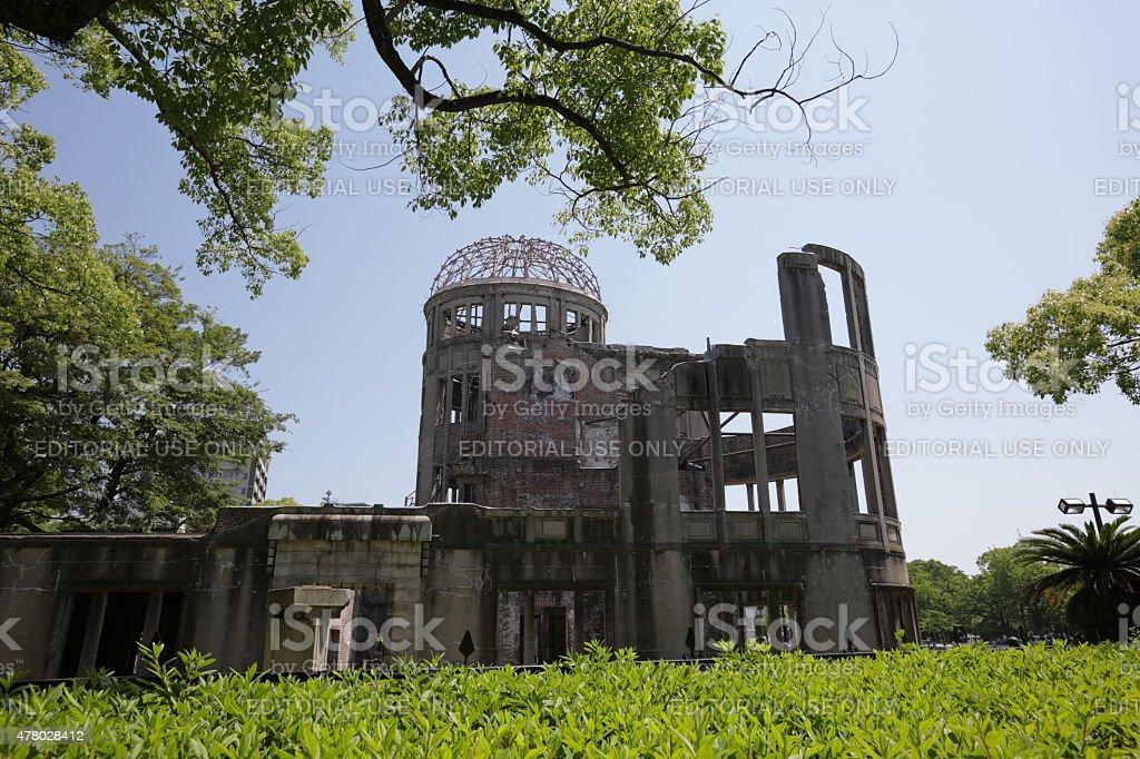 Atomic Bomb Building, Hiroshima Peace Memorial (Genbaku Dome), Japan stock photo