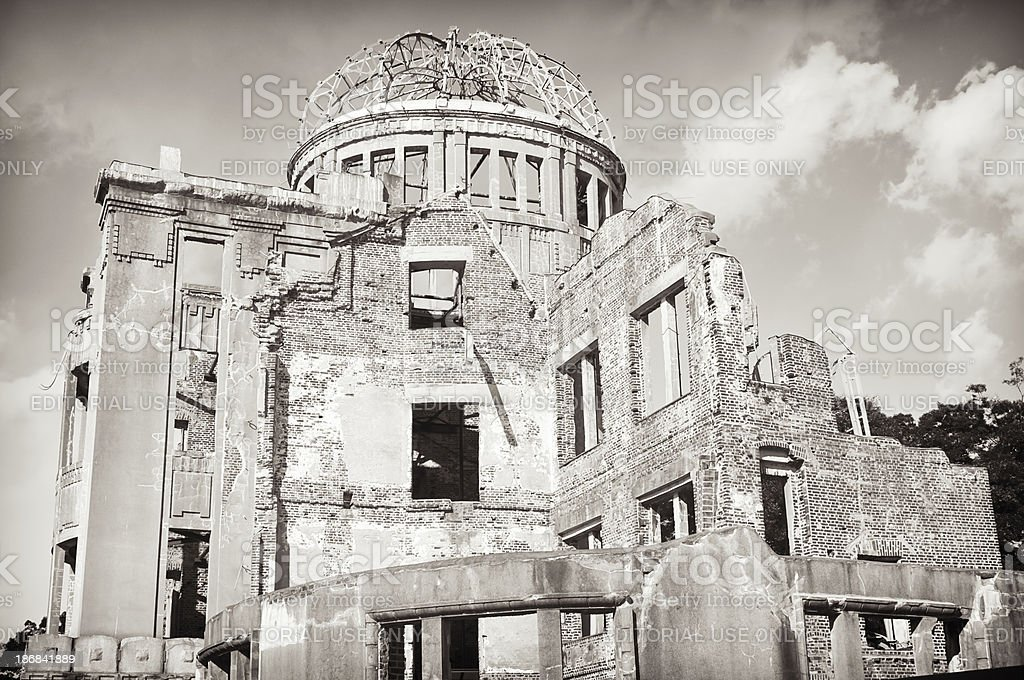 Atomic Bomb Dome Building, Hiroshima royalty-free stock photo