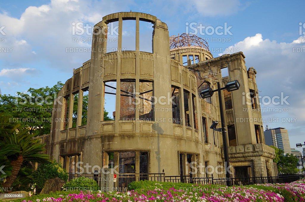 Bomba atómica cúpula de Hiroshima, Japón foto de stock libre de derechos