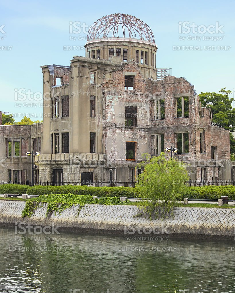 Atomic Bomb Dome in Hiroshima Peace Memorial Park. Unesco. Japan stock photo