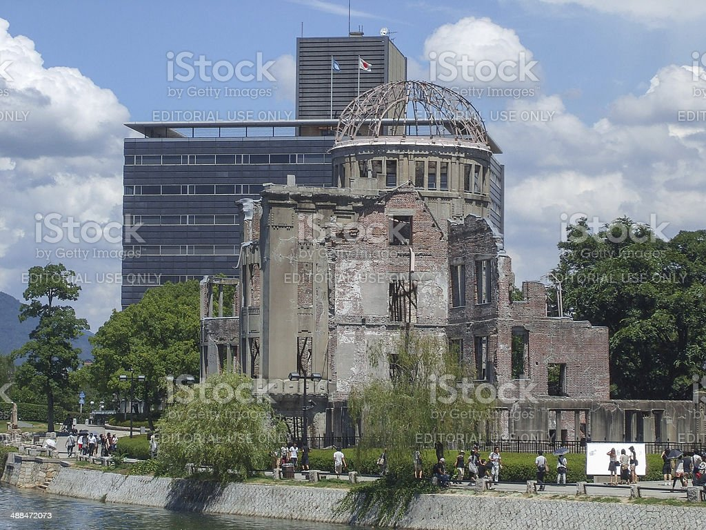 Atomic Bomb Dome in Hiroshima royalty-free stock photo