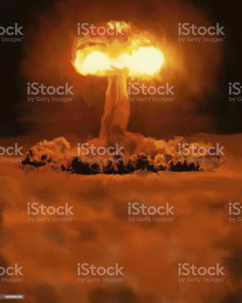 Atomic bomb royalty-free stock photo
