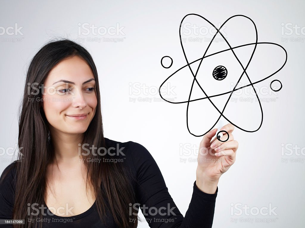 Atomic Particle royalty-free stock photo