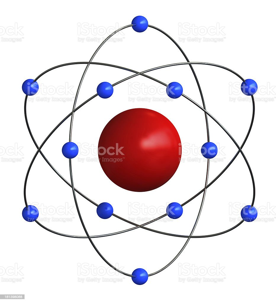 Atomic structure royalty-free stock photo