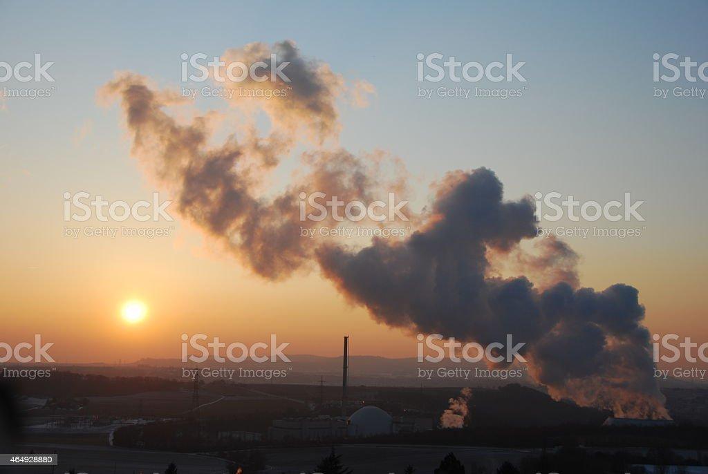 Atomkraftwerk stock photo