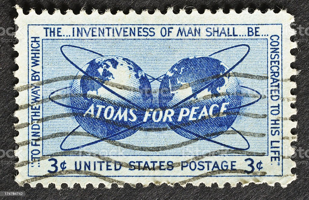 Atoms for Peace stock photo