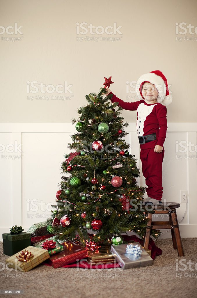 Atop the Christmas Tree royalty-free stock photo
