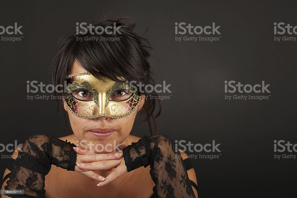 Atractive woman with venetian mask royalty-free stock photo