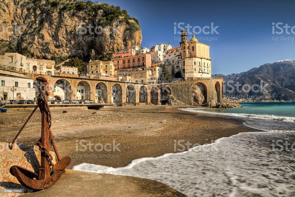 Atrani : italian fishing village Amalfi coast stock photo