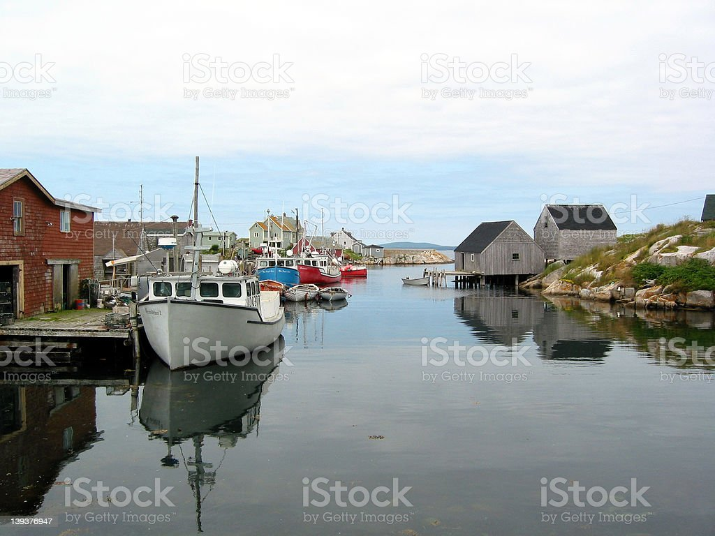ATranquil Harbour royalty-free stock photo
