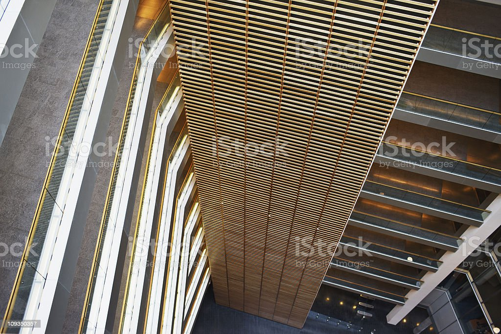 Atrium and walkways in modern office building royalty-free stock photo