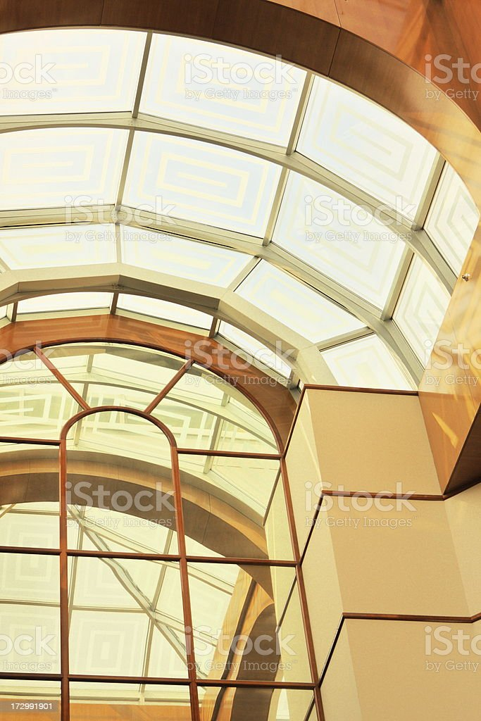 Atrium Arch Shopping Mall Architecture royalty-free stock photo
