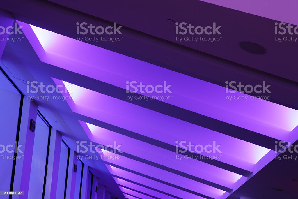 Atrium Coffered Ceiling Beam Ribbed Vaulting stock photo