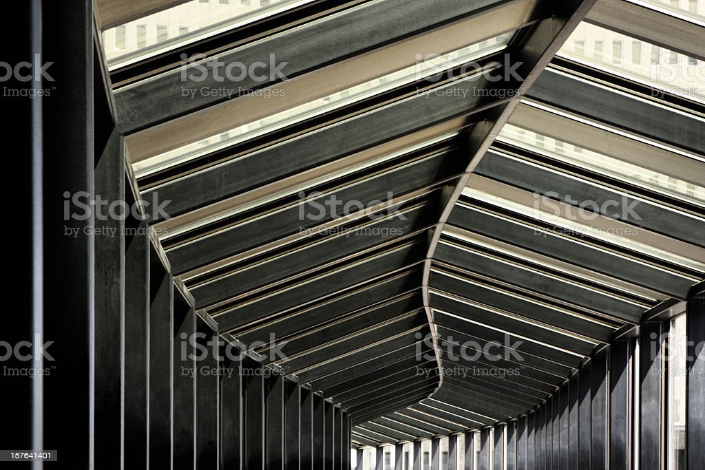 Atrium Corridor Skywalk Architecture royalty-free stock photo