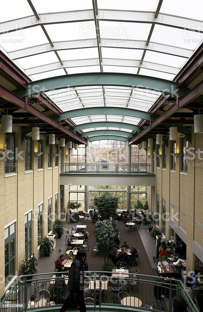 Atrium in University Building stock photo