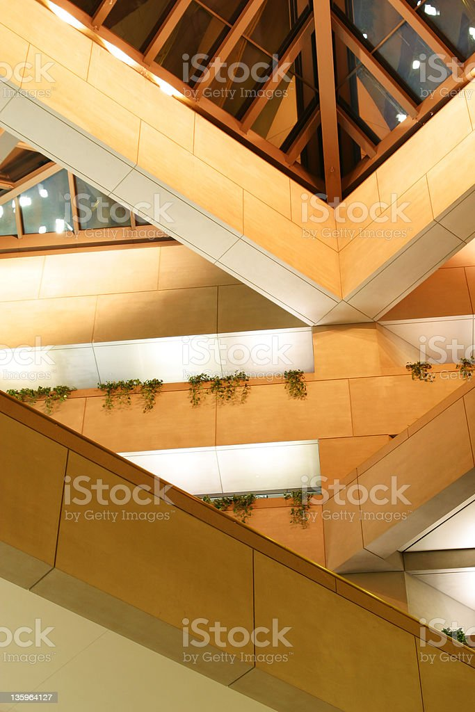 Atrium, Looking Up 4, Dayton, Ohio royalty-free stock photo