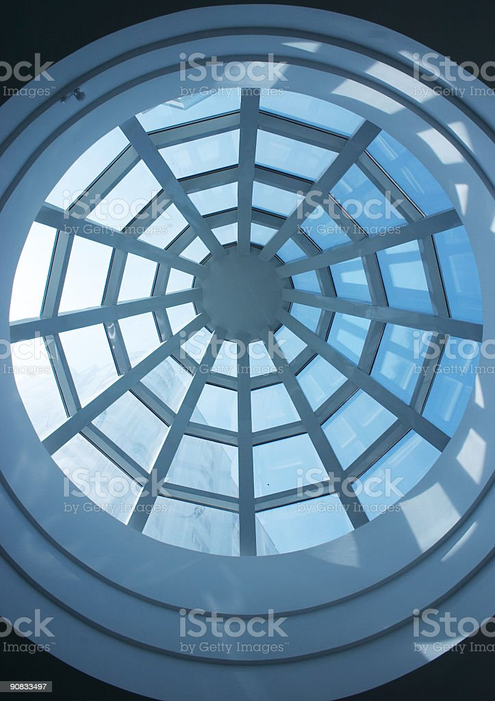 Atrium, looking up royalty-free stock photo