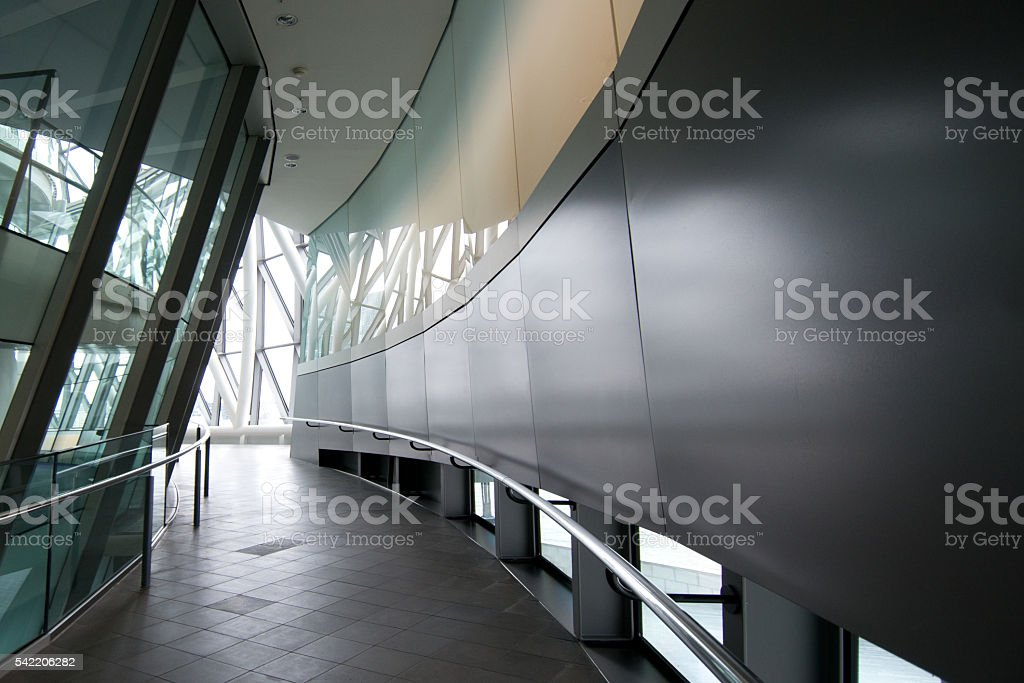 Atrium or Corridor, Hallway, City Hall Public Building, London stock photo