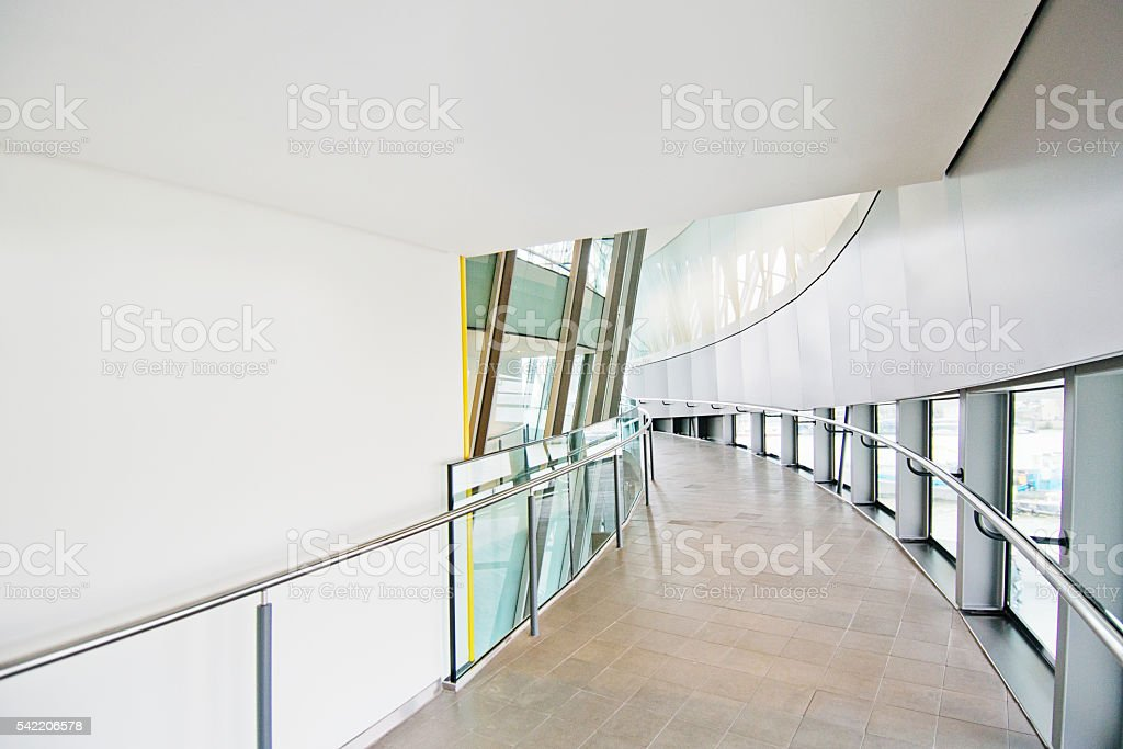 Atrium or Corridor, Hallway, City Hall Public Building, London stock photo