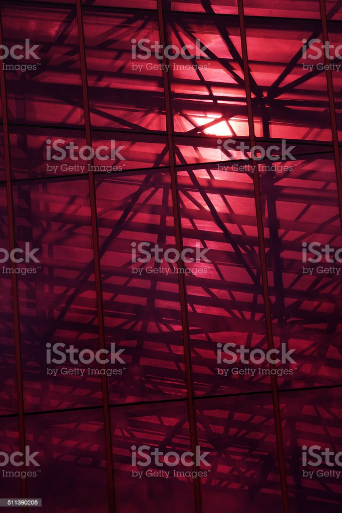 Atrium Pavilion Girder Beam Framework Silhouette stock photo