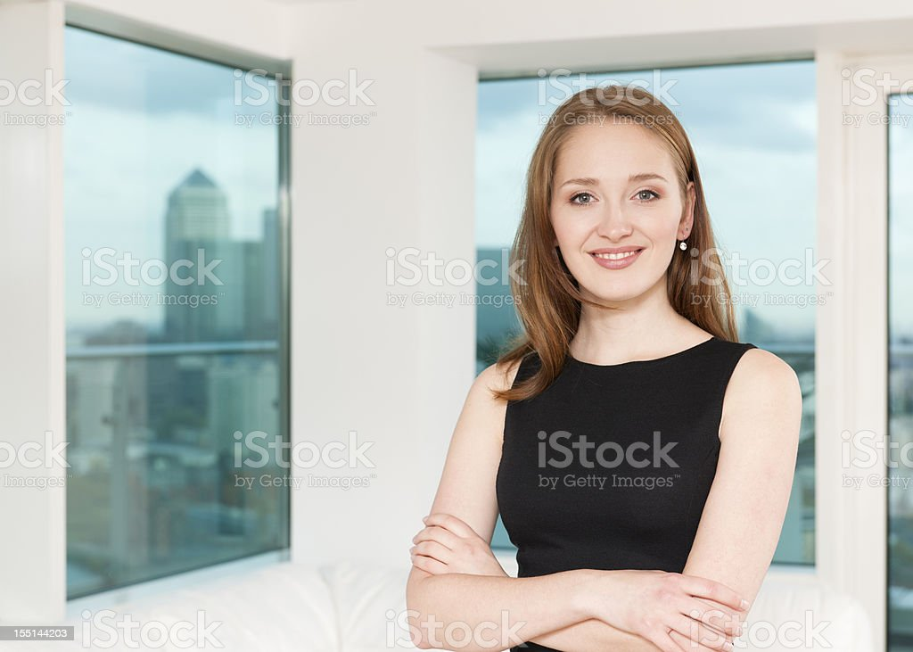 Atrractive Young Businesswoman royalty-free stock photo