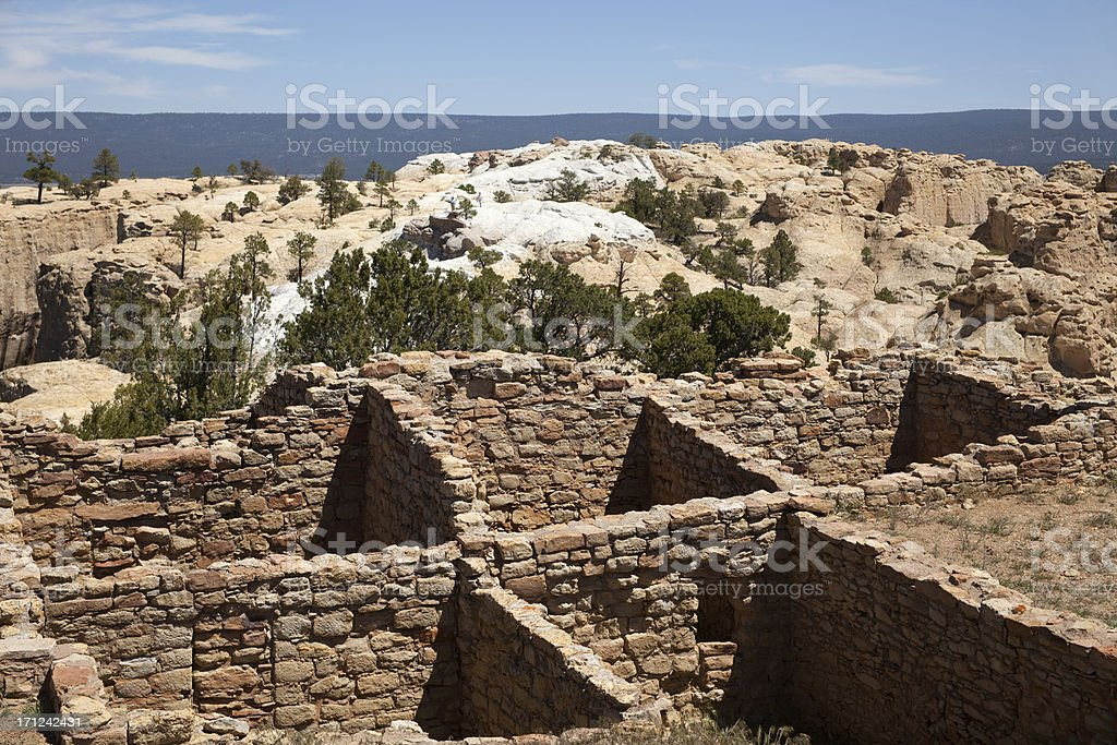 Atsinna Pueblo at El Morro National Monument New Mexico stock photo