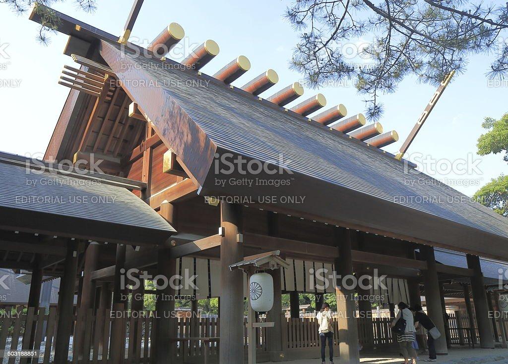 Atsuta Shrine Nagoya Japan stock photo
