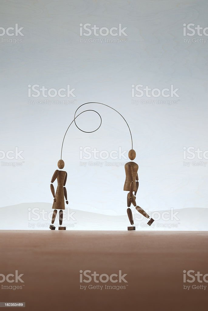 Attached Relationship royalty-free stock photo