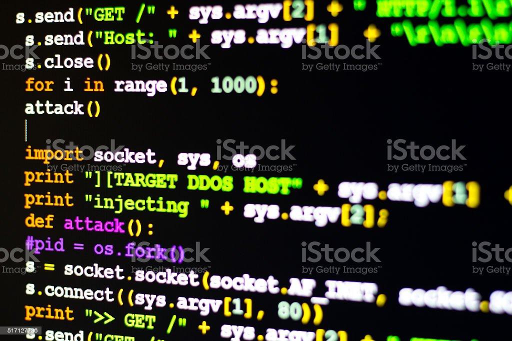 DDOS Attack concept stock photo