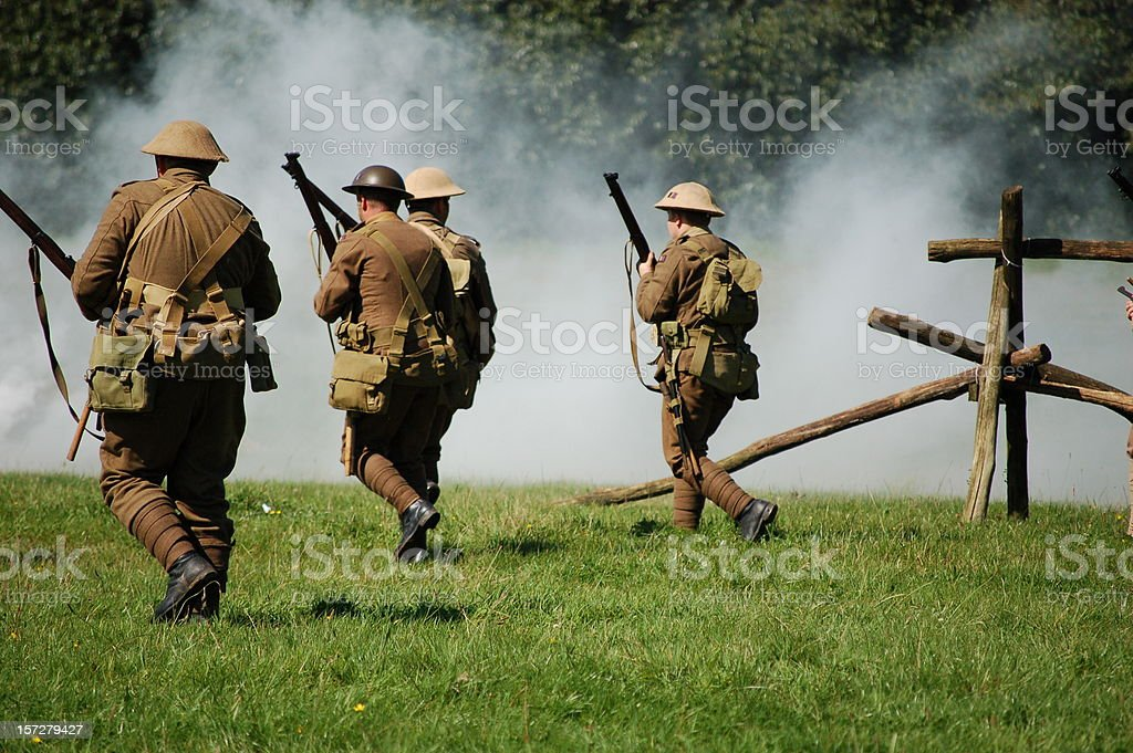 Attack formation. stock photo