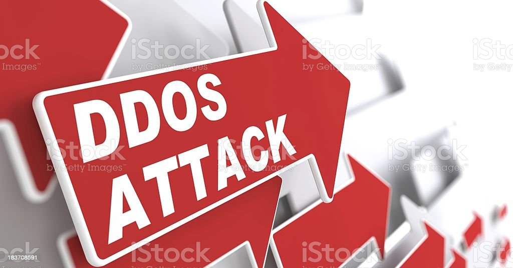 DDOS Attack.  Information Concept. royalty-free stock photo