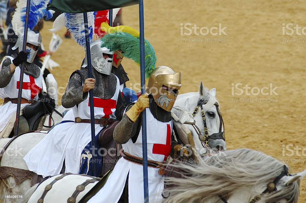 Attack of the Crusaders stock photo