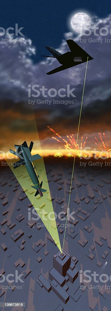 F117 Attack royalty-free stock photo