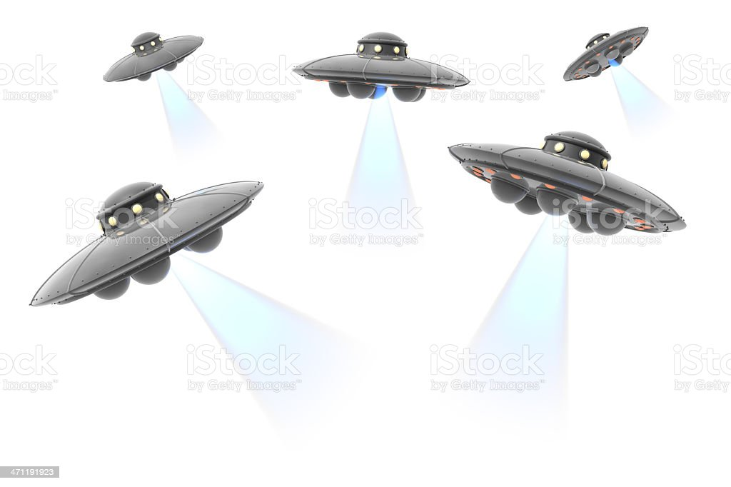 UFO Attack royalty-free stock photo