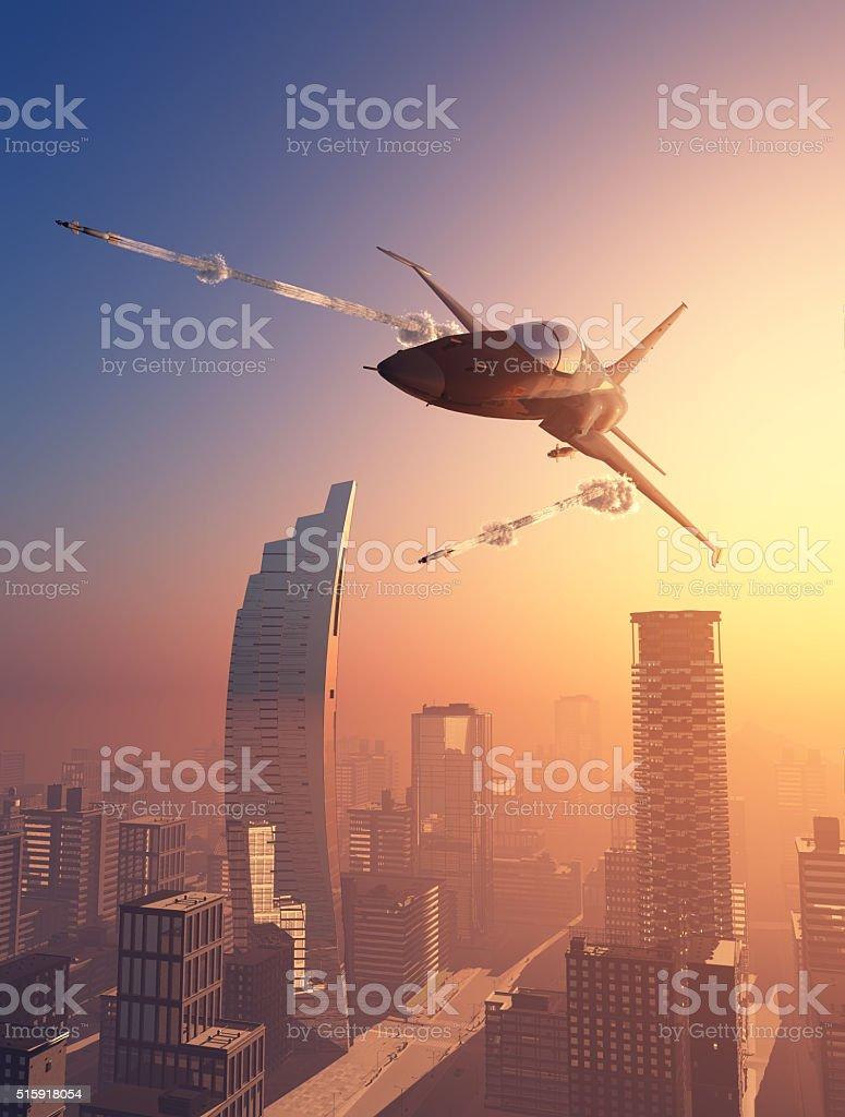 Attack. stock photo