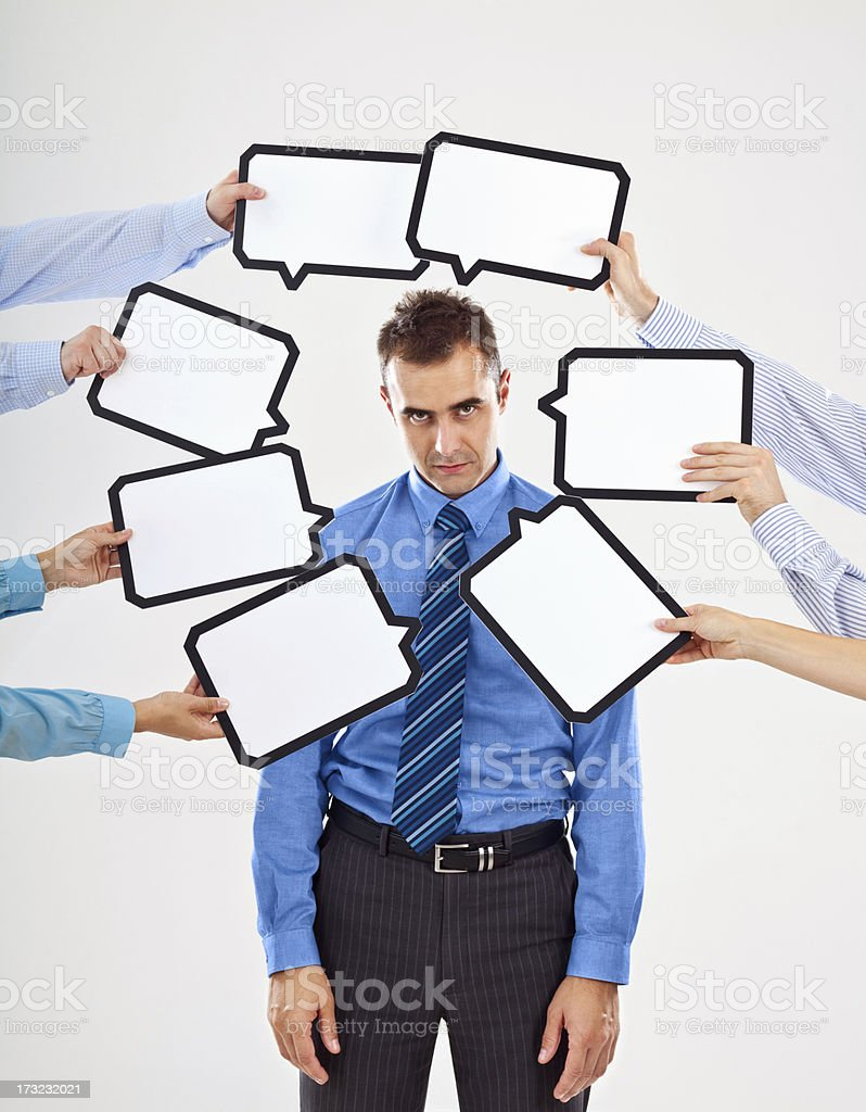 Attacked by thoughts royalty-free stock photo