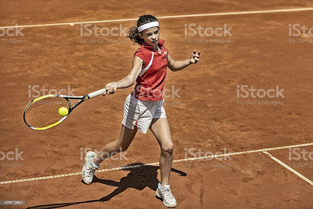 Attacking forehand royalty-free stock photo