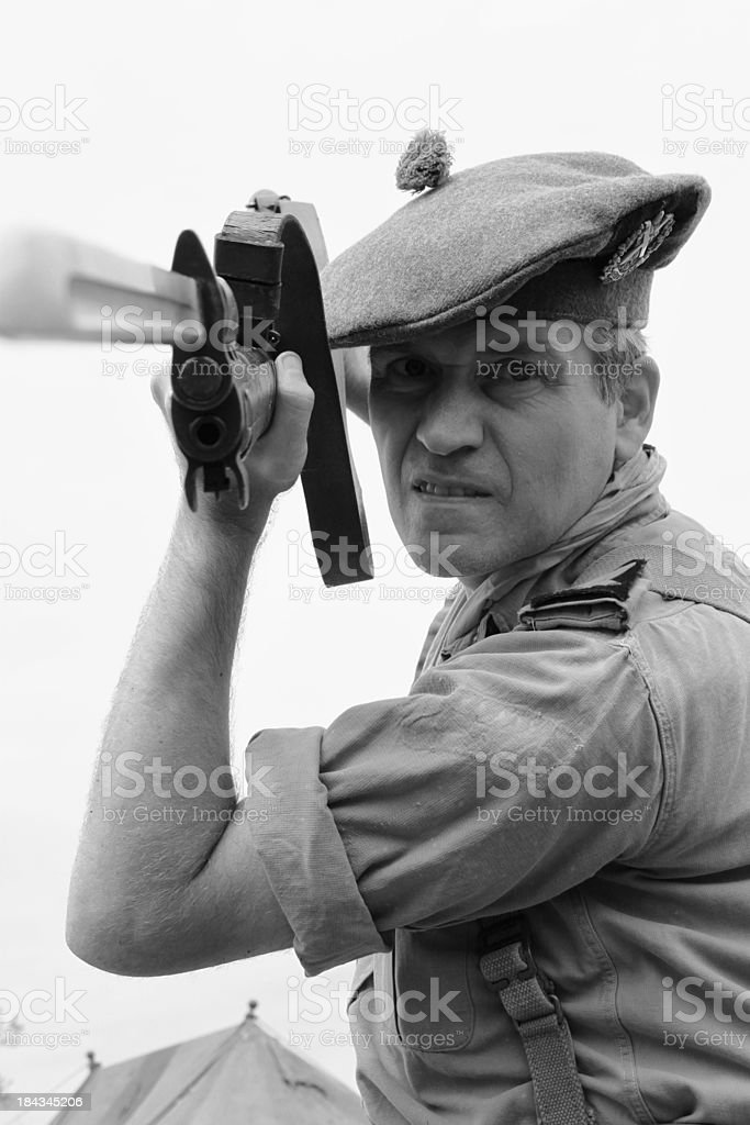 Attacking Soldier. royalty-free stock photo