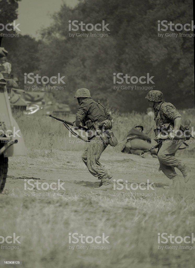 Attacking troops. royalty-free stock photo