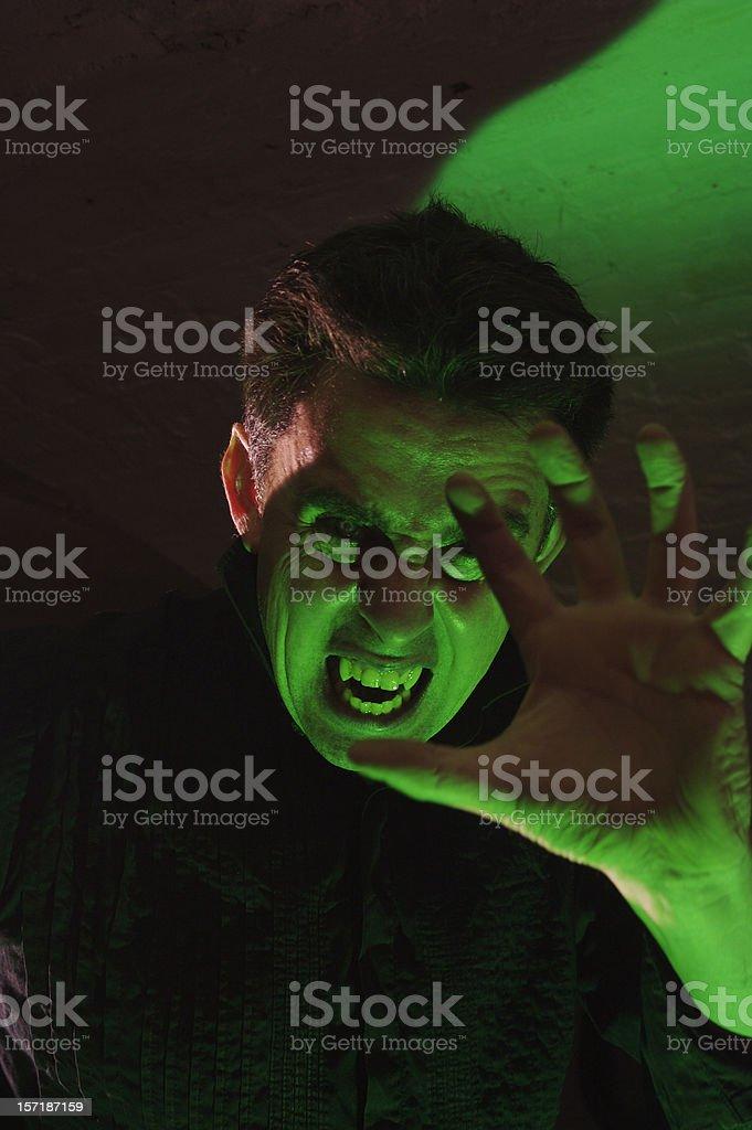 Attacking vampire stock photo