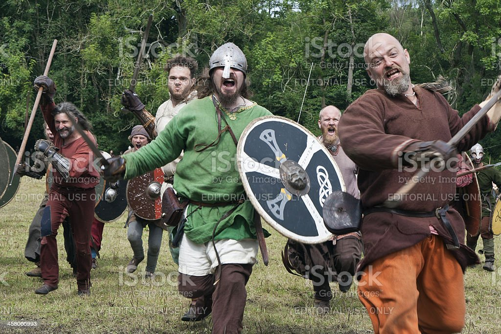 Attacking Vikings at Moesgaard royalty-free stock photo
