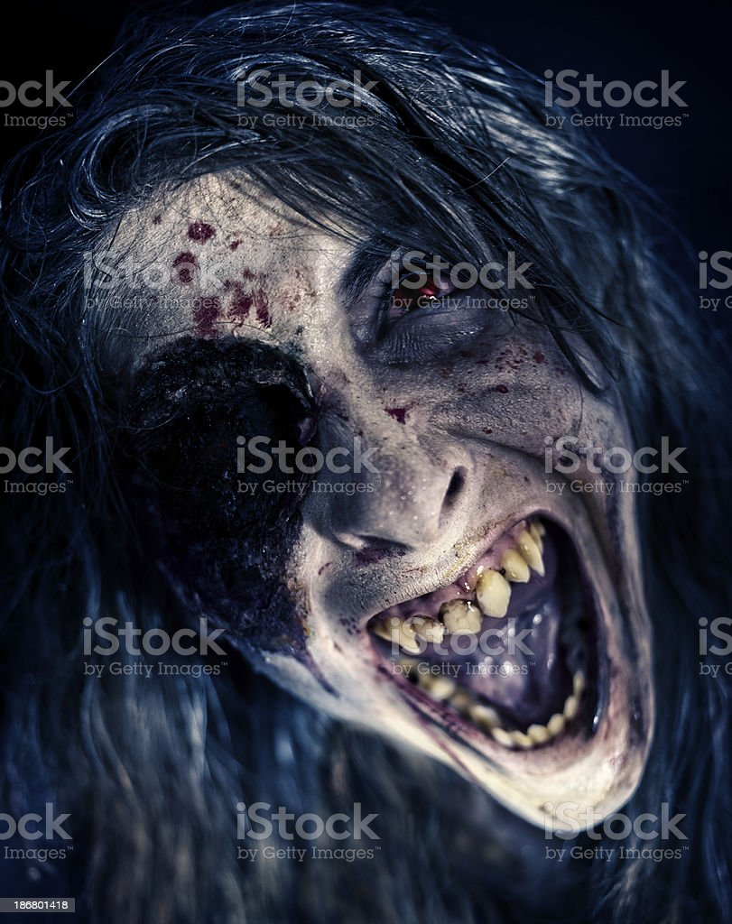 Attacking Zombie stock photo