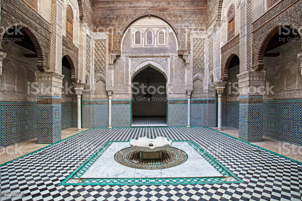 Attarine Madrasa Fez Madressa stock photo